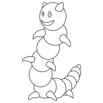 Caterpillar outline