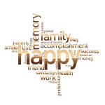 Happy Family Word Cloud No Background