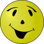 Vector clip art of grinning yellow smiley
