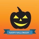 Happy Halloween blue sign vector image