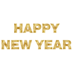 Happy New Year Gold Text