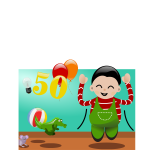 Happy to be 50 vector illustration