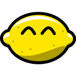 Vector illustration of lemon smiling at you