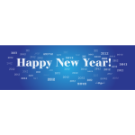 Happy New Year 2012 sign vector image