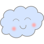 Happy cloud illustration