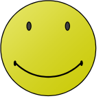 Enjoying smiley vector illustration