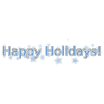 Happy Holidays Vector Text