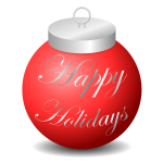 Happy Holidays Ornament Vector