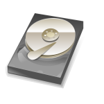 Vector graphics of hard disk icon