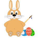 Comic bunny vector drawing