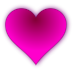 Vector illustration of glowing pink shaded heart