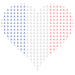 Heart France Flag Eiffel Tower