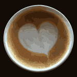 Heart in my cafe flat white 2016080723