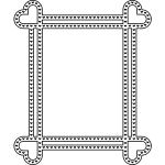 Rectangular Frame with hart on ends