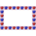 Heart frame in blue and red