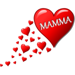 Hearts for Mom in Italian vector illustration