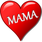 Mother's day heart vector