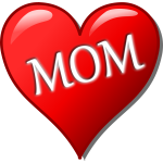 Mother's day heart vector image