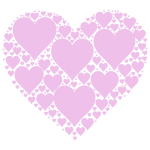Hearts In Heart pink