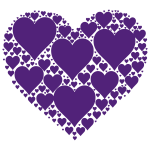 Hearts In Heart purple