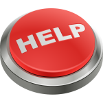 "Red button with word ""Help"""
