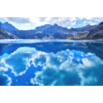 High Poly Luner Lake Austria