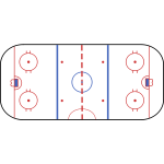 Hockey rink vector clip art