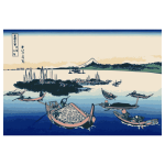 Tsukuda Island in Mushashi Province color illustration