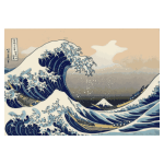 Vector graphics of painting Under the wave off Kanagawa