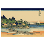 Vector image of color painting of Enoshima in Sagami Province, Japan