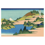 Lake of Hakone in Sagami Province Canvas vector image