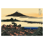 Vector image of Dawn at Isawa Koshiu in province of Kai