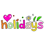 Holidays typography