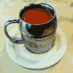 Vector illustration of cup of tea with milk in Hong Kong