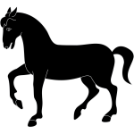 Simple horse silhouette