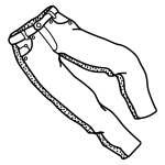 Trousers lineart vector graphics