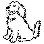 Dog line art vector illustration