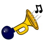 Colored horn