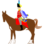 Vector illustration of national guard on horse