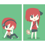 Animated red-haired children