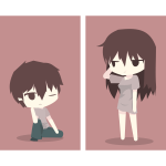 Animated boy and girl