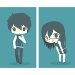 Emo boy and girl