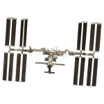 International Space Station photorealistivc vector drawing