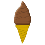 Image of chocolate ice cream in cone