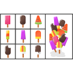 Different ice creams set
