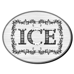 Victorian style ice sign vector image