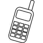 Mobile phone icon vector clip art