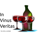 Vector image of friends of wine sign