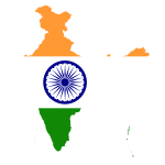 India Map Flag