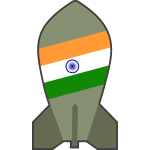 Vector image of hypothetical Indian nuclear bomb